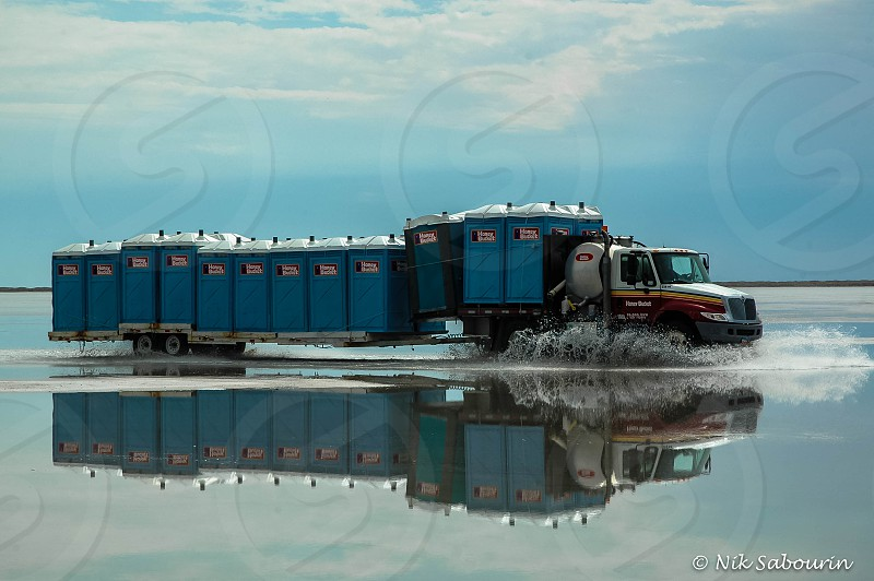 Honey Bucket Truck at Bonneville Salt Flats photo