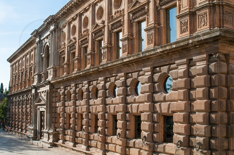 Carlos V Palace exterior view. Granada. photo