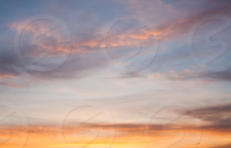 Abstract of colorful sunset sky with clouds. photo