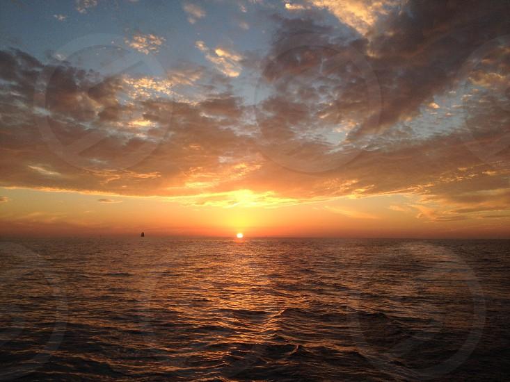 Pacific Ocean Sunset photo