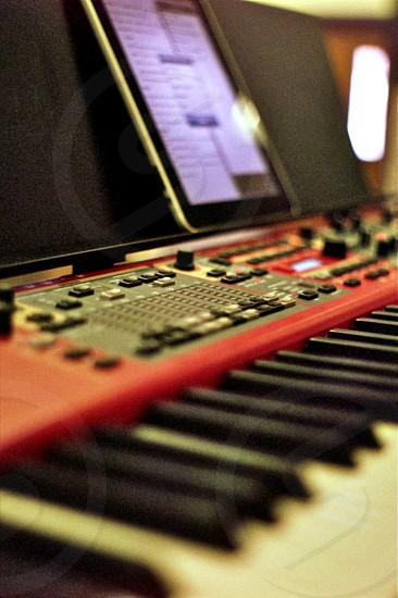 keyboard musician worship  photo