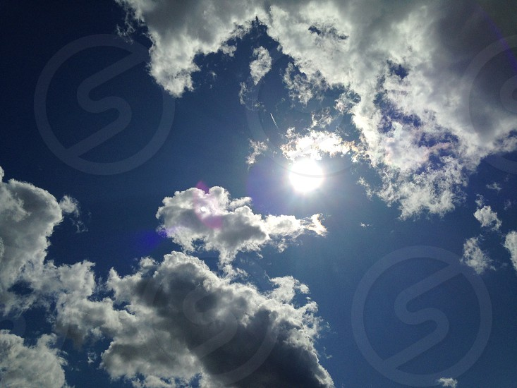 clouds and sunlight photo