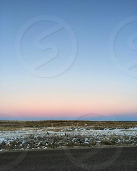 Sky sunset prairies color pretty sky photo
