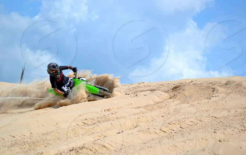 Michigan.  Silver Lake. Kawasaki. Sand Dunes. photo