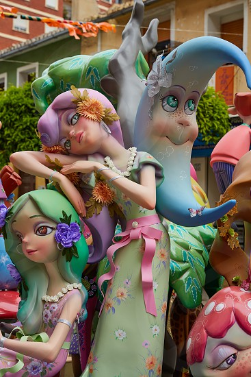 Fallas fest popular figures will burn in March 19 th night yearly photo