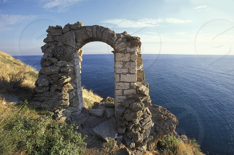 the Kap Kaliakra on the blacksea coast near the town of Balcik in Bulgaria in east Europe. photo