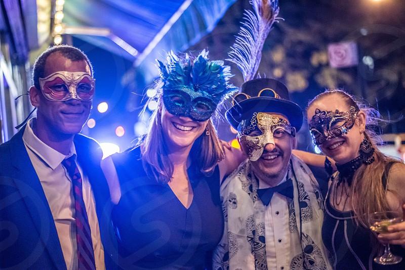 Masquerade friends photo