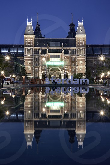 The amazing Rijksmuseum in the city centre of Amsterdam photo