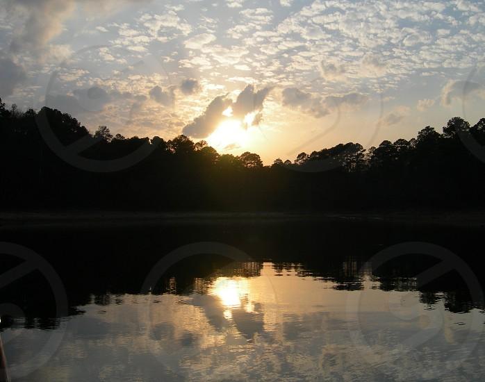 Sunset on Lake DeGray Arkansas. photo