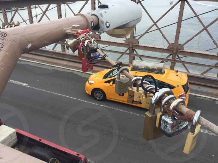 Love locks on the Brooklyn Bridge. photo