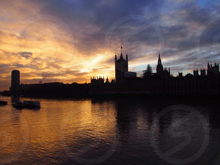 sunset in London photo