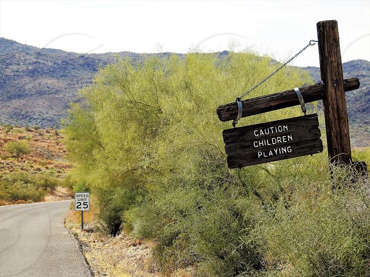 Down A Desert Road           photo