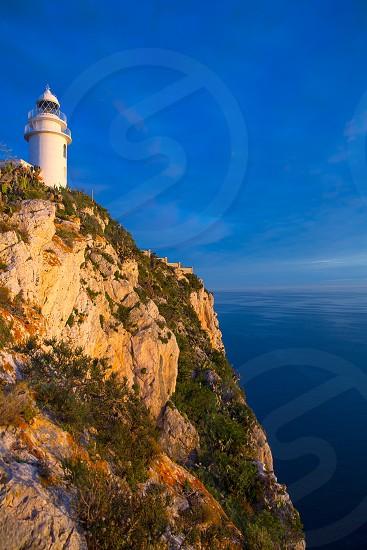 Denia Javea San Antonio Cape Mediterranean Lighthouse in Alicante Province Spain photo