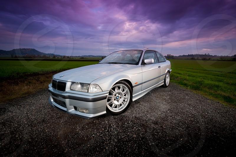 Automotive BMW sunset  photo