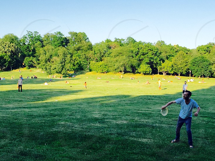 A game of frisbee between friends in Prospect Park! photo