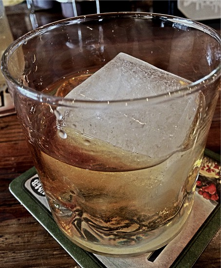 50 year old scotch on the rocks at The Saloon Main St. Ventura CA photo
