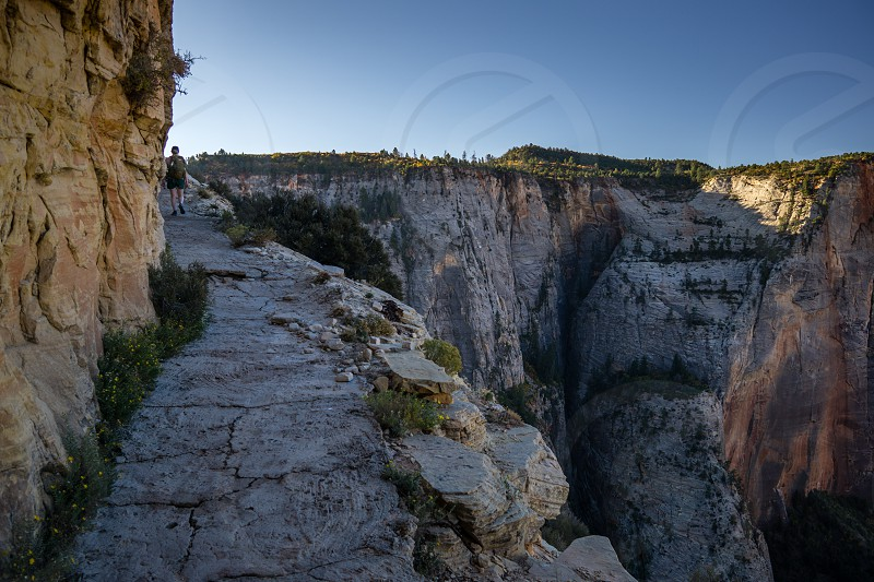 Observation Point Trail Zion National Park Utah. photo