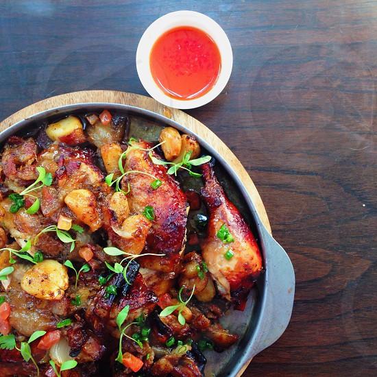 Bier-B-Q roasted chicken  photo