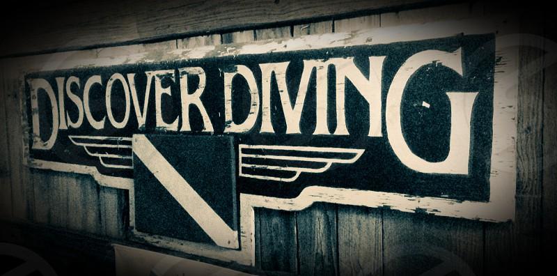 Diving vintage photo