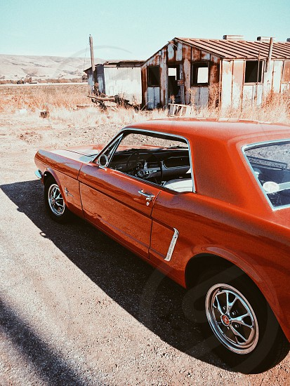 red muscle car photo