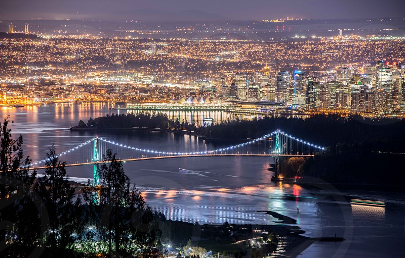 Vancouver at night photo