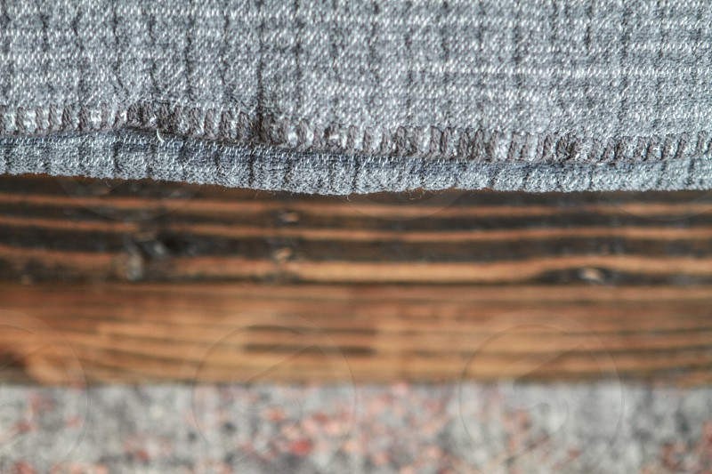 brown wood with grey background in macroshot photography photo