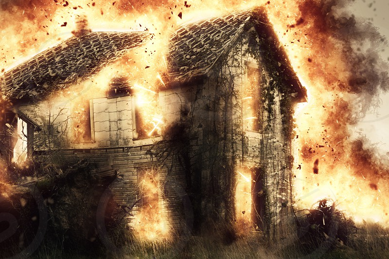 Fireexplosionhomehouse photo