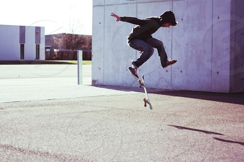 white skateboard photo