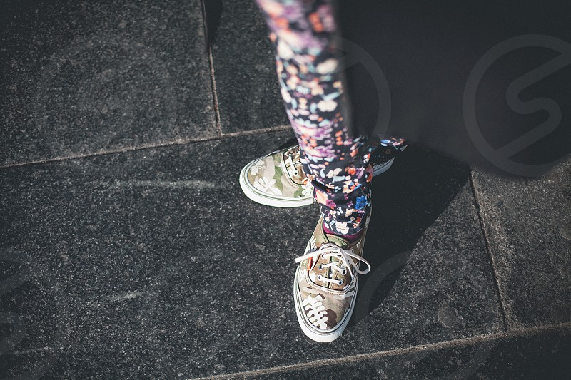 colorful sneakers photo