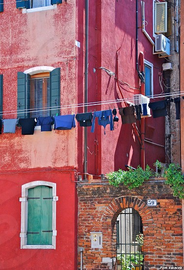 Clothesline in Venice photo