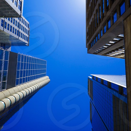 Vibrant city buildings economic growth  photo
