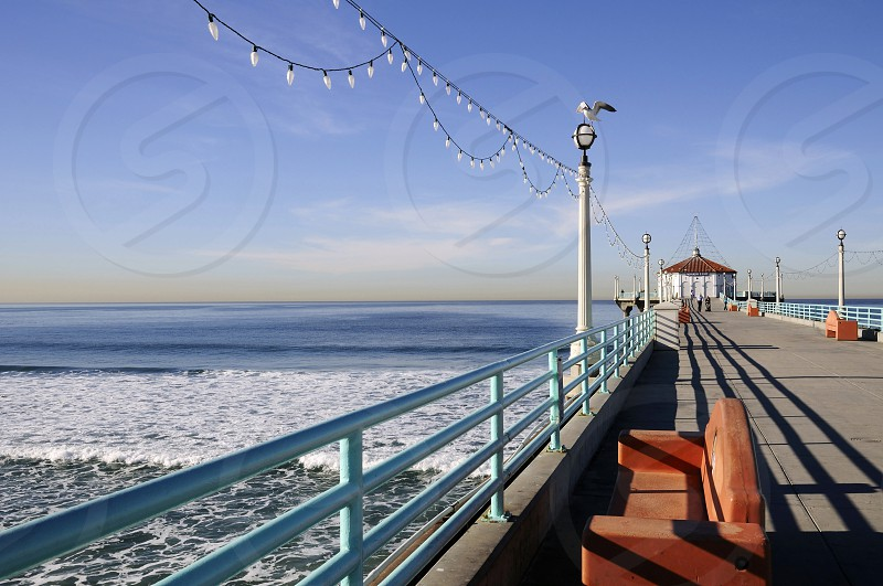 Manhattan Beach Los Angeles California By S C Link Photo Stock Snapwire