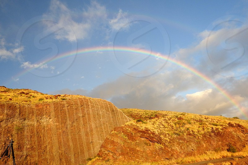 Rainbow over West Maui Mountains         photo