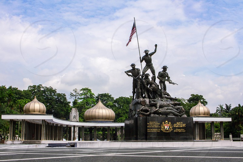 National monument of MAlaysia kuala lumpur a remembrance of malaysia soldiers during the World War photo