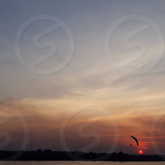 Sunset in Vientine Laos. photo