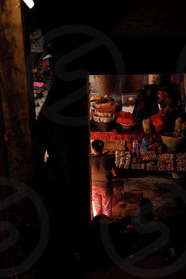 Woman in the market (Ubud - Bali) photo