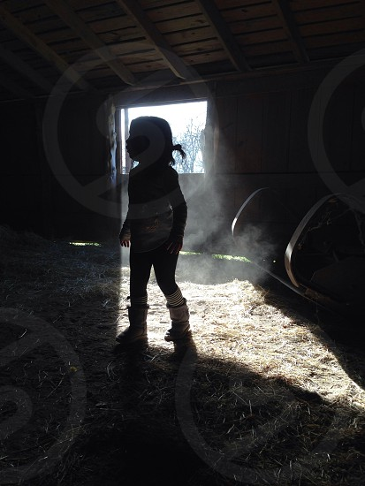 baby standing silhouette photo