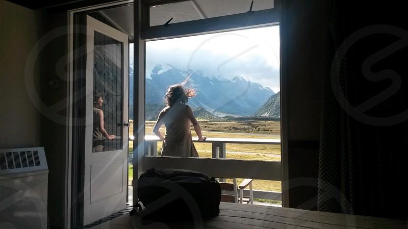 Unpacking at Aoraki Mt Cook New Zealand photo