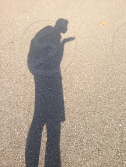 Shadow of a blowed kiss photo