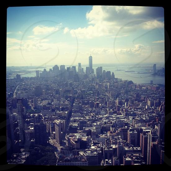 New York City street view Manhattan Empire State Building photo