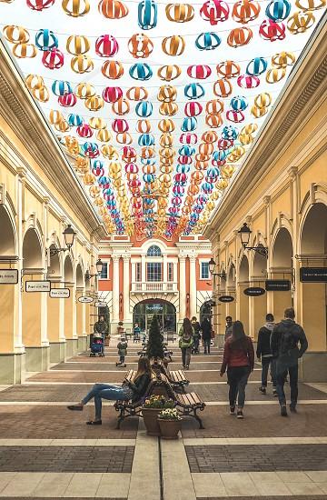 Pushkin city Pulkovo highway alley sights mall shopping  photo