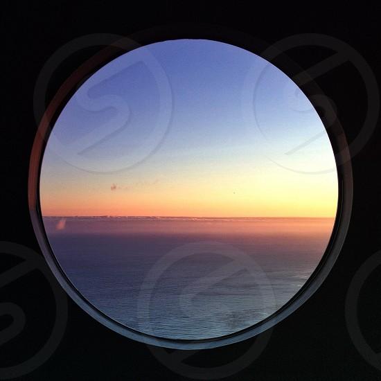 circles ocean window photo