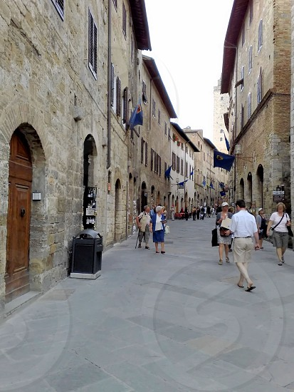 Shopping streets in Italy photo