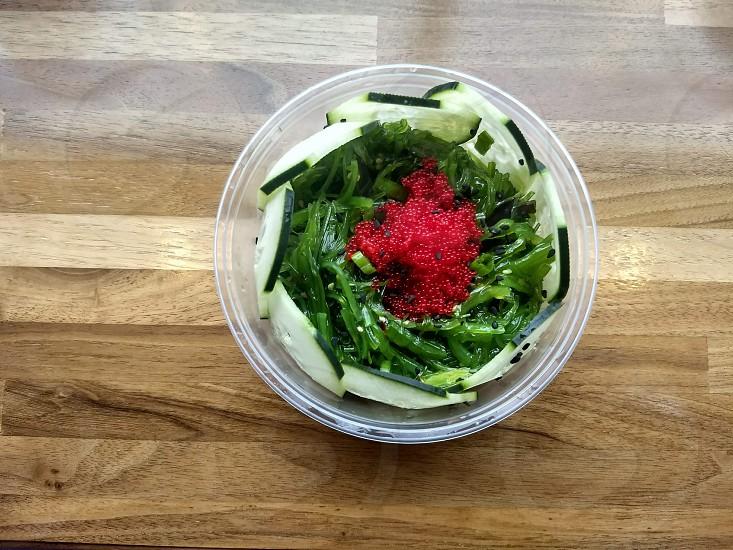 Poké bowl food delivery enjoy at home photo