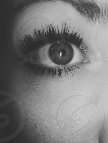 Black and white eyes photo