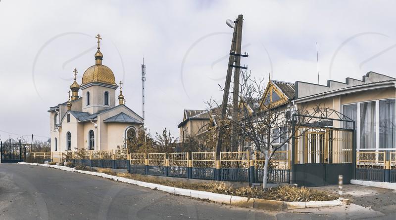 Odessa Ukraine - 11.05.2018. A small Orthodox church in the resort village Zatoka near Odessa Ukraine photo