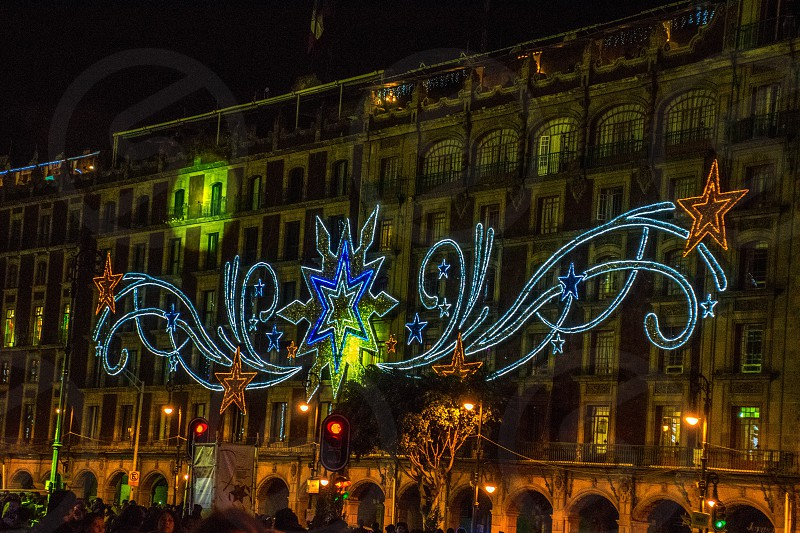Zocalo Square during Christmas photo