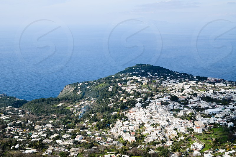 Capri Island from the Lift to Monte Solaro  ( Italy ) photo