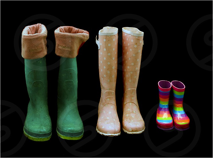 Wellingtons Wellies Boots Childrens Family photo