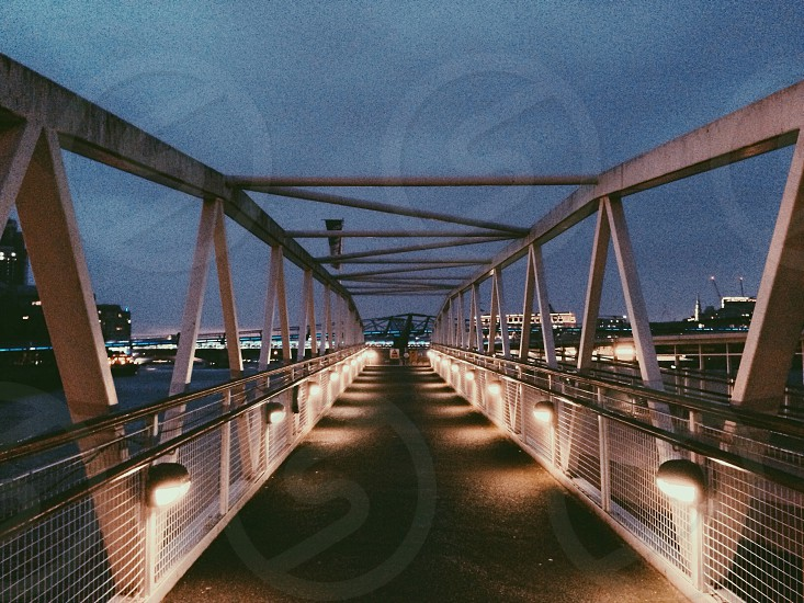 bridge London night urban city  photo